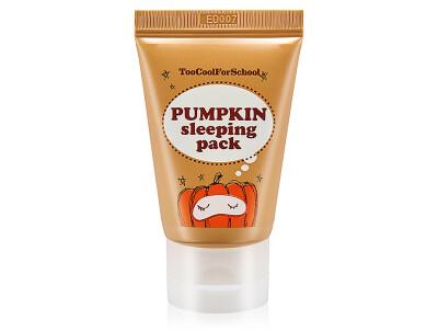 Ночная маска для лица с экстрактом тыквы Too Cool For School Pumpkin Sleeping Pack, 30мл - Фото №1