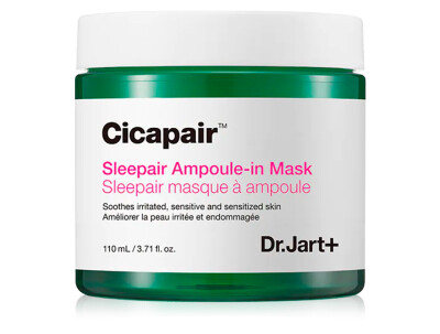 Восстанавливающая ночная маска антистресс для лица Dr. Jart+ Cicapair Sleepair Ampoule-in Mask, 110мл - Фото №1