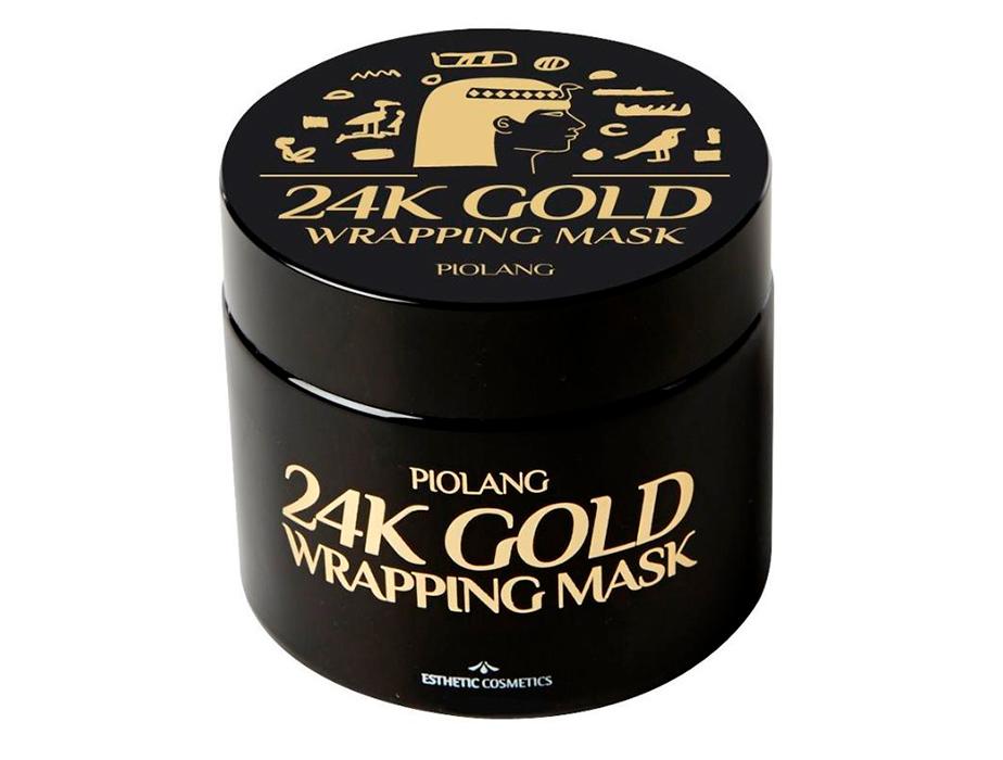 Маска-пленка для лица с 24 каратным золотом Esthetic House Piolang 24K Gold Wrapping Mask, 80мл - Фото №2