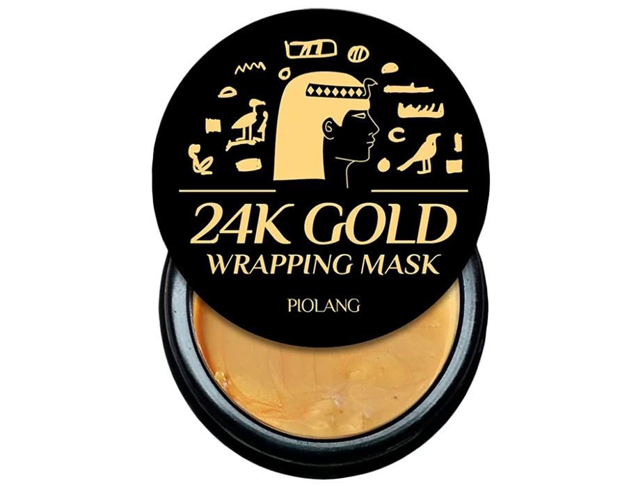 Маска-пленка для лица с 24 каратным золотом Esthetic House Piolang 24K Gold Wrapping Mask, 80мл - Фото №3