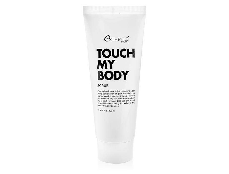 Смягчающий скраб для тела с козьим молоком Esthetic House Touch My Body Scrub, 100мл