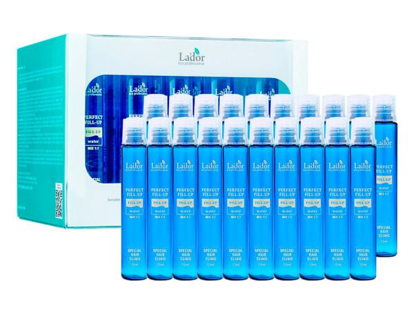 Филлер для волос с эффектом ламинирования Lador Perfect Hair Fill-Up, 20шт по 13мл - Фото №1