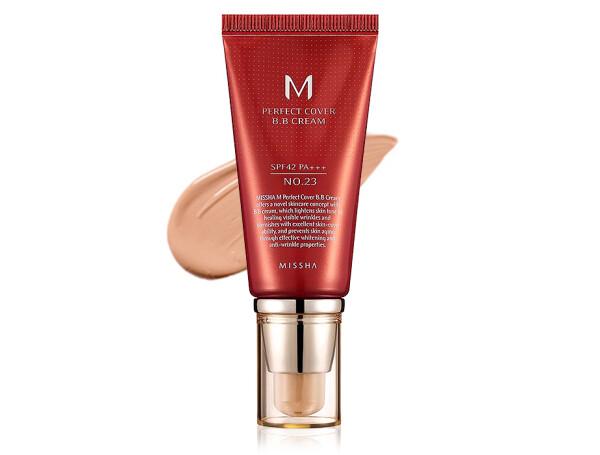 Увлажняющий и матирующий BB крем для лица Missha Perfect Cover BB Cream SPF 42 №23, 50мл - Фото №1