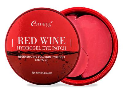 Гидрогелевые патчи под глаза с экстрактом красного вина Esthetic House Red Wine Hydrogel Eye Patch, 60шт - Фото №1