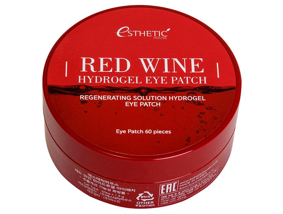 Гидрогелевые патчи под глаза с экстрактом красного вина Esthetic House Red Wine Hydrogel Eye Patch, 60шт - Фото №2
