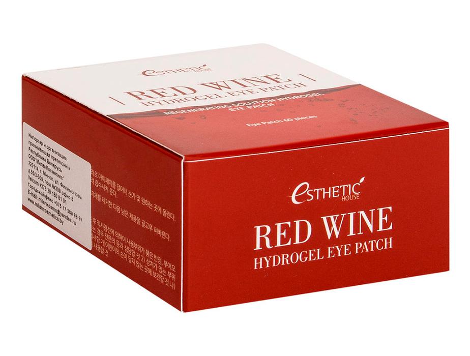 Гидрогелевые патчи под глаза с экстрактом красного вина Esthetic House Red Wine Hydrogel Eye Patch, 60шт - Фото №4