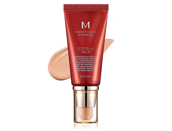 Увлажняющий и матирующий BB крем для лица Missha Perfect Cover BB Cream SPF 42 №21, 50мл - Фото №1