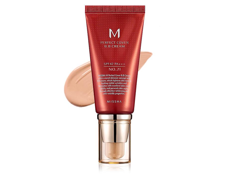 Увлажняющий и матирующий BB крем для лица Missha Perfect Cover BB Cream SPF 42 №21, 50мл