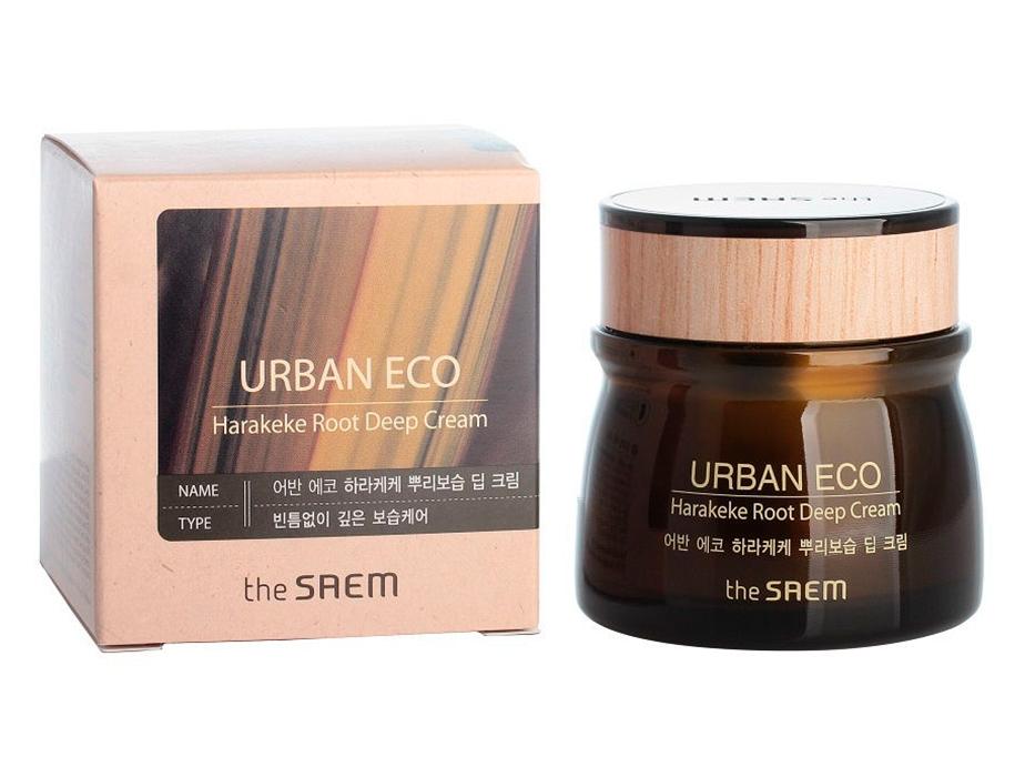 Глубоко питательный крем для лица с экстрактом корня новозеландского льна The Saem Urban Eco Harakeke Root Deep Cream, 60мл - Фото №3