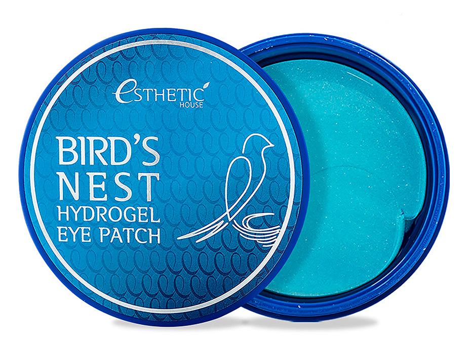 Гидрогелевые патчи под глаза с экстрактом ласточкиного гнезда Esthetic House Bird's Nest Hydrogel Eye Patch, 60шт - Фото №1