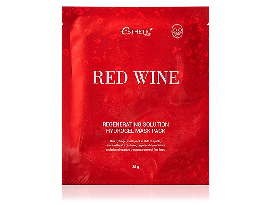 Гидрогелевая маска для лица с экстрактом красного вина Esthetic House Red Wine Regenerating Solution Hydrogel Mask