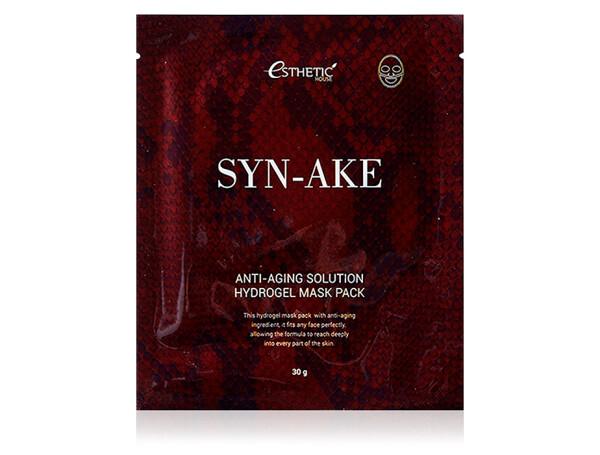 Гидрогелевая маска для лица со змеиным пептидом Esthetic House Syn-Ake Anti-Aging Solution Hydrogel Mask - Фото №1