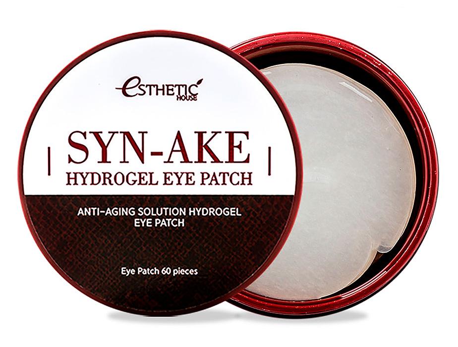 Гидрогелевые патчи под глаза со змеиным пептидом Esthetic House Syn-Ake Hydrogel Eye Patch, 60шт - Фото №1