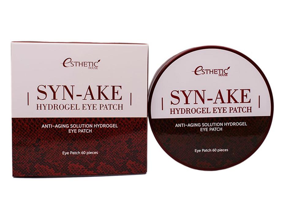 Гидрогелевые патчи под глаза со змеиным пептидом Esthetic House Syn-Ake Hydrogel Eye Patch, 60шт - Фото №2