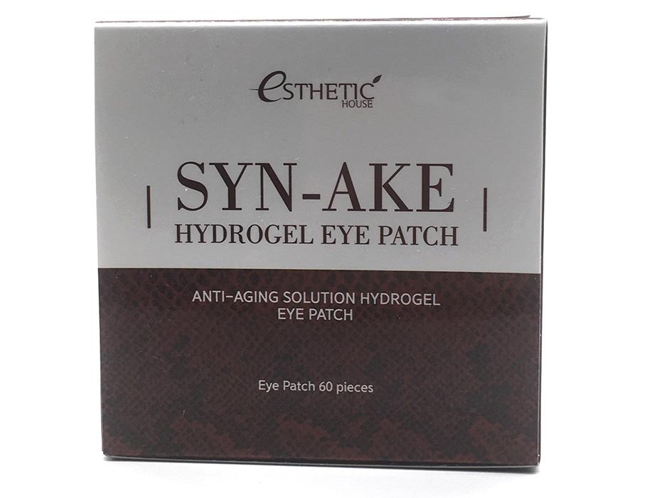 Гидрогелевые патчи под глаза со змеиным пептидом Esthetic House Syn-Ake Hydrogel Eye Patch, 60шт - Фото №4