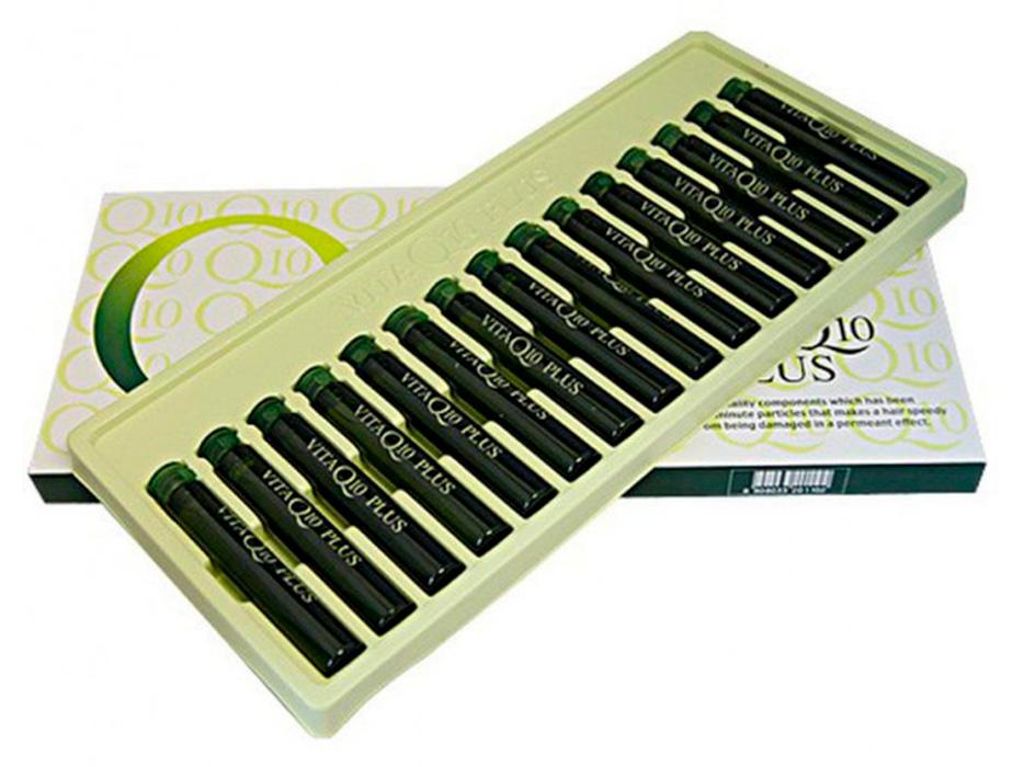 Ампулы для роста и восстановления волос с витамином B6 и коэнзимом Q10 Incus Vita Q10 Plus Ampoule, 15шт по 13мл - Фото №2