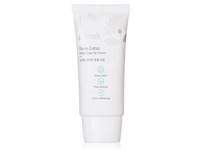 Увлажняющий и осветляющий крем для лица Petitfee Snow Lotus White Tone Up Cream, 50мл - Фото №1