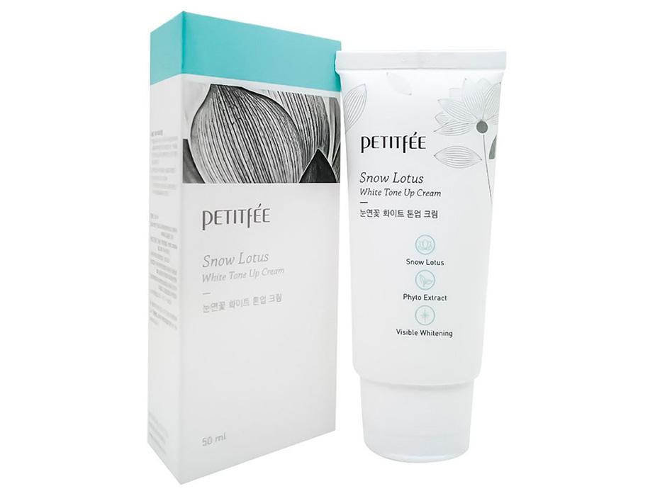 Увлажняющий и осветляющий крем для лица Petitfee Snow Lotus White Tone Up Cream, 50мл - Фото №3