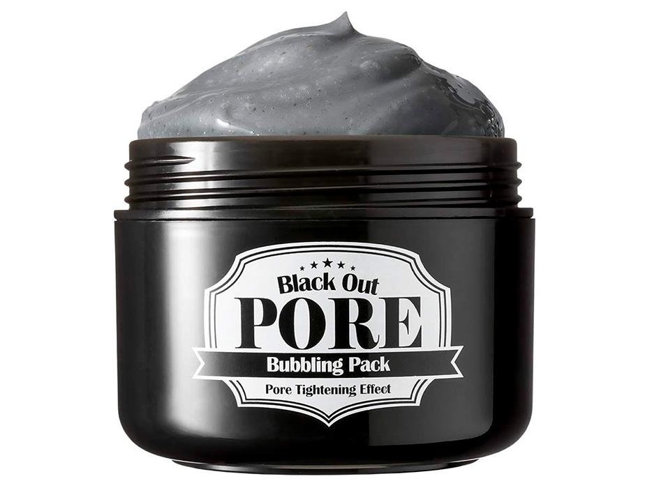 Кислородная маска на основе глины для очищения пор Secret Key Black Out Pore Bubbling Pack, 100г - Фото №2