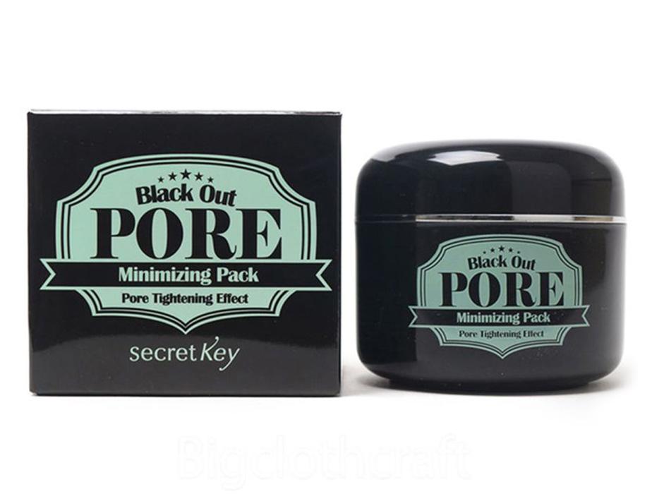 Маска с древесным углем для очищения и сужения пор Secret Key Black Out Pore Minimizing Pack, 100г - Фото №3