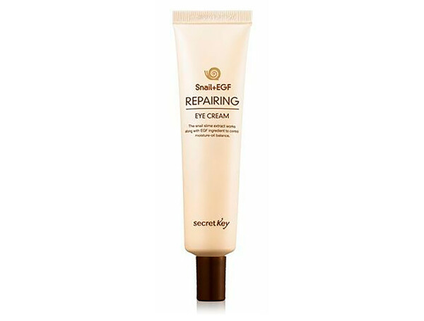 Укрепляющий крем для кожи вокруг глаз с муцином улитки Secret Key Snail + EGF Repairing Eye Cream, 30мл - Фото №1