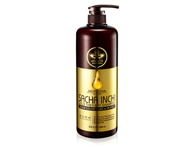 Восстанавливающий шампунь для волос «Золотая терапия» Daeng Gi Meo Ri Sacha Inchi Gold Therapy Shampoo, 1000мл - Фото №1