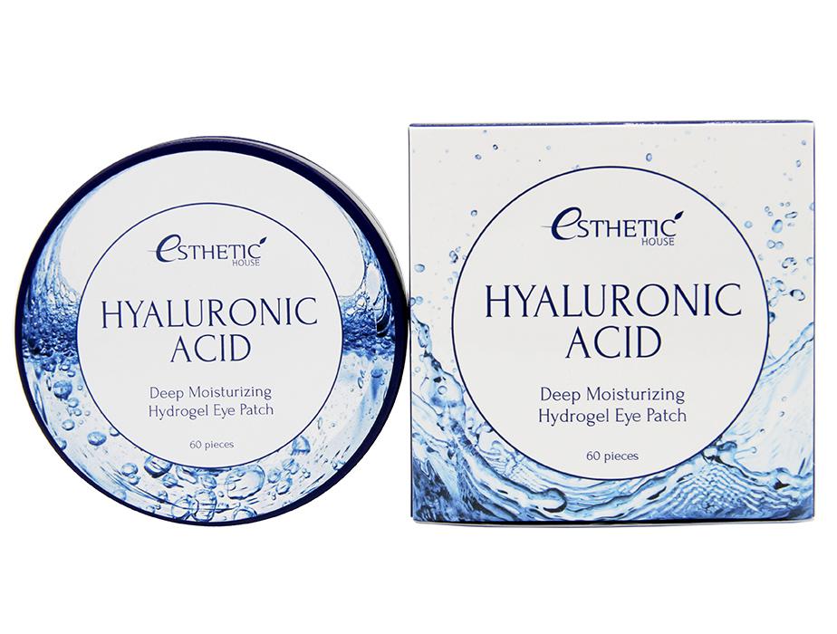 Гидрогелевые патчи под глаза с гиалуроновой кислотой Esthetic House Hyaluronic Acid Hydrogel Eye Patch, 60шт - Фото №4