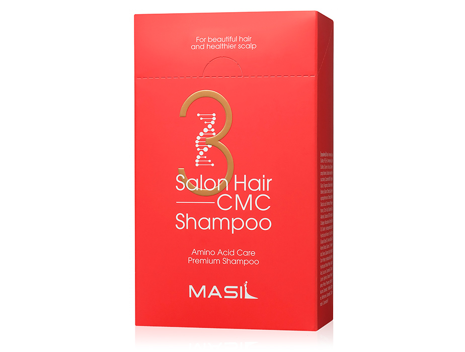 Восстанавливающий шампунь с аминокислотами Masil 3 Salon Hair CMC Shampoo, 20шт по 8мл - Фото №1