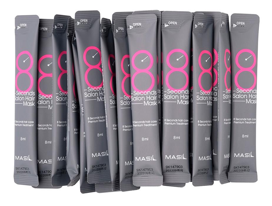 Восстанавливающая питательная маска для волос Masil 8 Seconds Salon Hair Mask, 20шт по 8мл - Фото №2