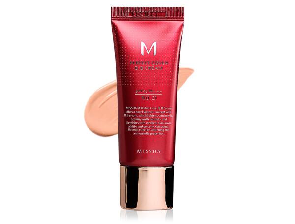 Увлажняющий и матирующий BB крем для лица Missha Perfect Cover BB Cream SPF 42 №21, 20мл - Фото №1
