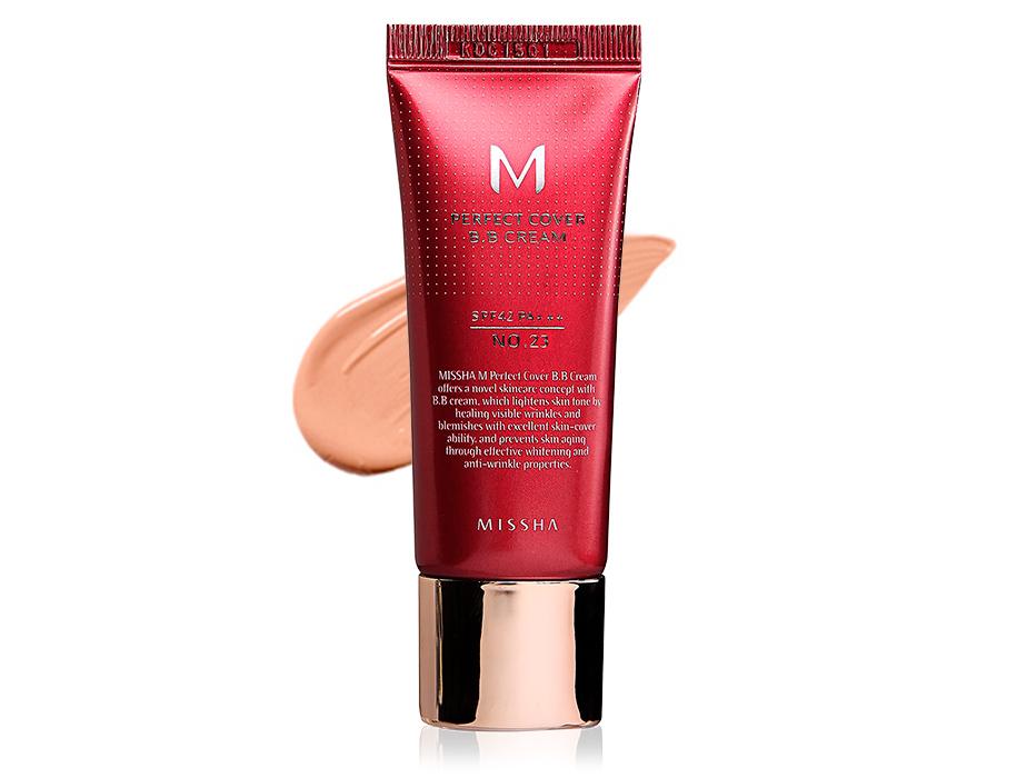 Увлажняющий и матирующий BB крем для лица Missha Perfect Cover BB Cream SPF 42 №23, 20мл