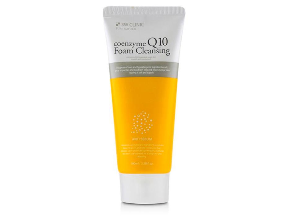 Очищающая пенка для лица с коэнзимом Q10 3W Clinic Coenzyme Q10 Foam Cleansing Anti Sebum, 100мл - Фото №1