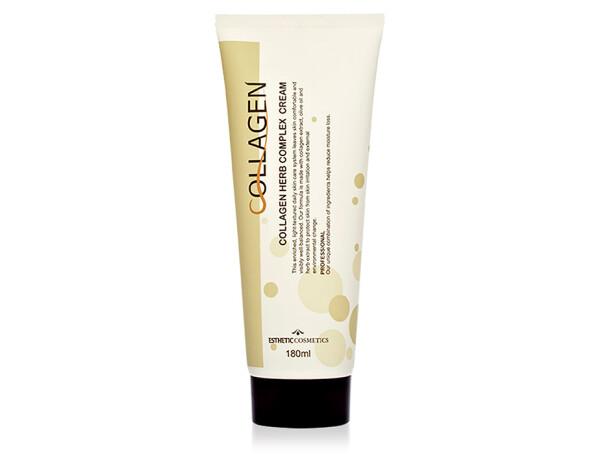 Крем для лица с коллагеном и растительным комплексом Esthetic House Collagen Herb Complex Cream, 180мл - Фото №1