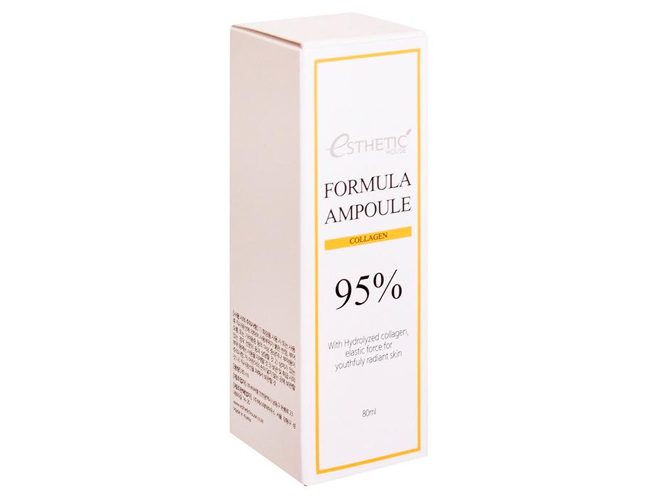 Сыворотка для упругости кожи с коллагеном Esthetic House Formula Ampoule Collagen, 80мл - Фото №4