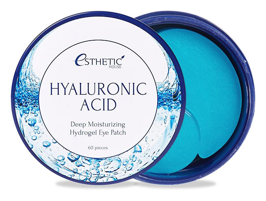 Гидрогелевые патчи под глаза с гиалуроновой кислотой Esthetic House Hyaluronic Acid Hydrogel Eye Patch, 60шт - Фото №1