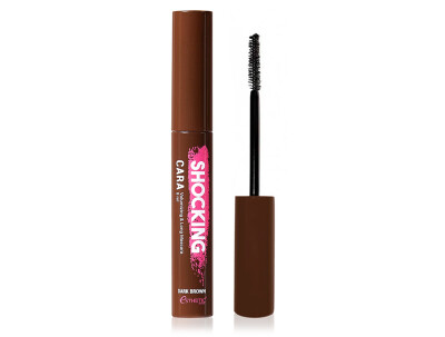 Тушь для ресниц коричневая Esthetic House Shocking Cara Volumizing & Long Mascara Dark Brown, 8мл - Фото №1