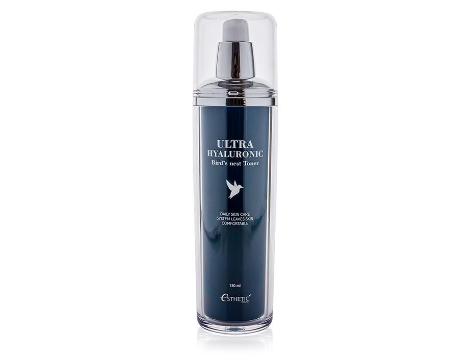 Увлажняющий тонер для лица с экстрактом ласточкиного гнезда и гиалуроновой кислотой Esthetic House Ultra Hyaluronic Acid Bird's Nest Toner, 130мл