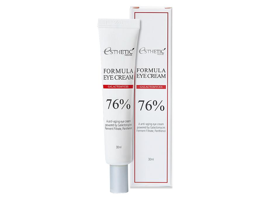 Восстанавливающий защитный крем для кожи вокруг глаз с галактомисисом Esthetic House Formula Eye Cream Galactomyces 76%, 30мл - Фото №2