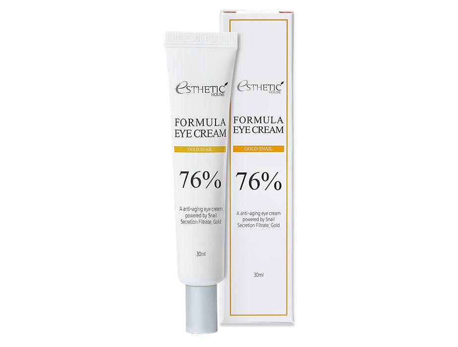 Питательный крем для кожи вокруг глаз с муцином улитки Esthetic House Formula Eye Cream Gold Snail 76%, 30мл - Фото №2