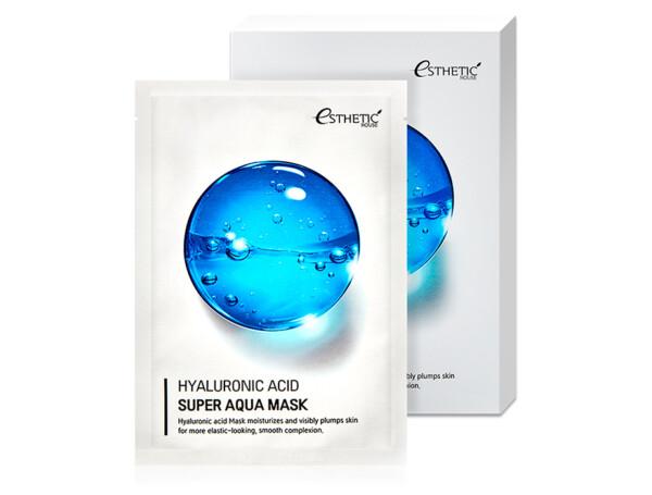 Увлажняющая маска для лица с гиалуроновой кислотой Esthetic House Hyaluronic Acid Super Aqua Mask, 5шт - Фото №1