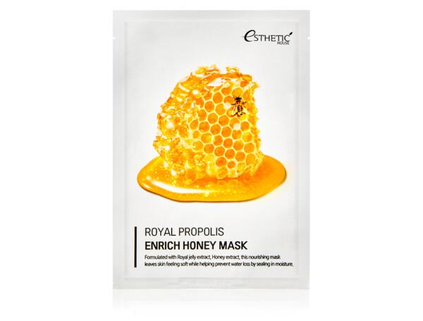 Питательная маска с маточным молочком, прополисом и медом Esthetic House Royal Propolis Enrich Honey Mask - Фото №1