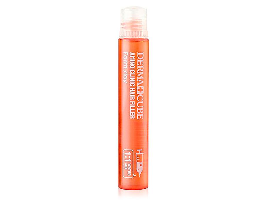 Восстанавливающий филлер для волос с аминокислотами FarmStay Derma Cube Amino Clinic Hair Filler, 13мл