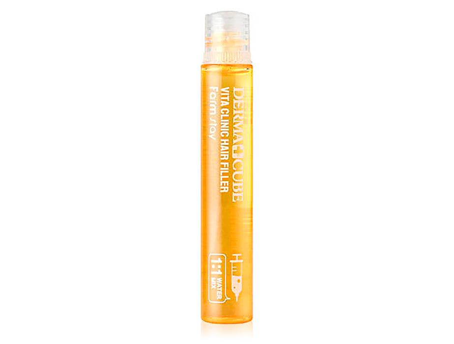 Витаминный филлер для волос FarmStay Derma Cube Vita Clinic Hair Filler, 13мл