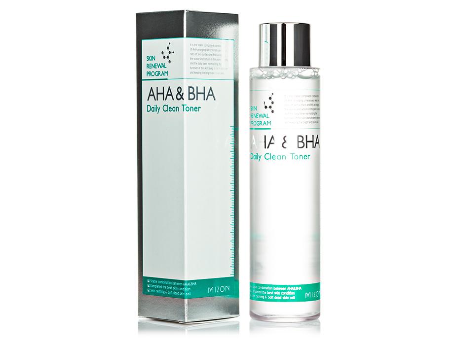 Тонер-пилинг для лица Mizon AHA & BHA Daily Clean Toner, 150мл - Фото №2