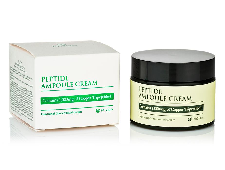 Пептидный крем для лица Mizon Peptide Ampoule Cream, 50мл - Фото №4