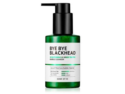 Кислородная маска-пенка для лица от чёрных точек Some By Mi Bye Bye Blackhead 30 Days Miracle Green Tea Tox Bubble Cleanser, 120мл - Фото №1