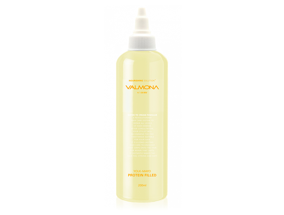 Питательная маска-филлер для волос Valmona Nourishing Solution Yolk-Mayo Protein Filled, 200мл - Фото №1