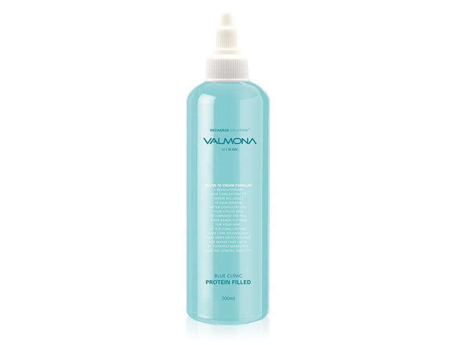Восстанавливающая маска-филлер для волос Valmona Recharge Solution Blue Clinic Protein Filled, 200мл