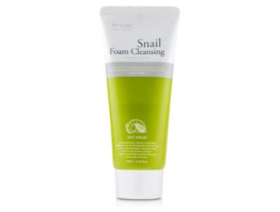 Очищающая пенка для лица с муцином улитки 3W Clinic Snail Foam Cleansing Anti Sebum, 100мл - Фото №1