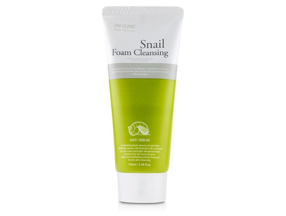 Очищающая пенка для лица с муцином улитки 3W Clinic Snail Foam Cleansing Anti Sebum, 100мл